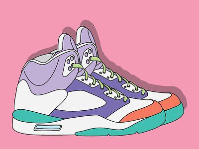 Ready to dribbble debut sports basketball retro digital drawing sneakers illustration air jordan vector