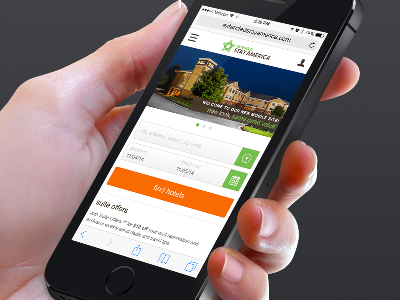 Extended Stay America - Mobile Website ux visual design website travel checkin hotel booking mobile