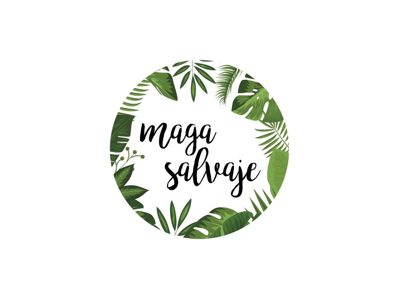 Maga Salvaje handwritten green plants logo