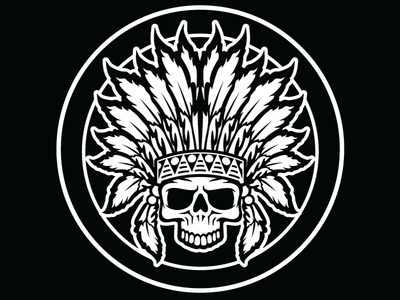 Chiefs - Black & White illustration vector logo design