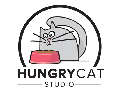 HungryCat Studio vector illustration design branding logo