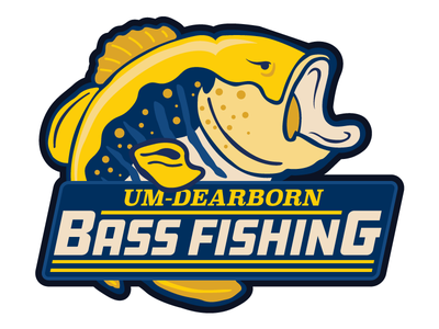 UDM Bass Fishing vector illustration design logo