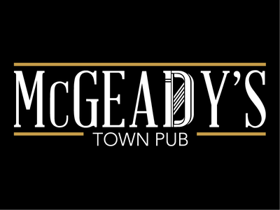 Mcgeady's Town Pub typography branding design logo
