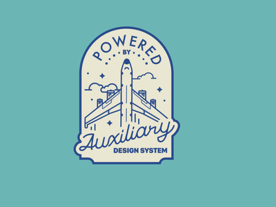 Auxiliary Design System Badge badge vector illustration