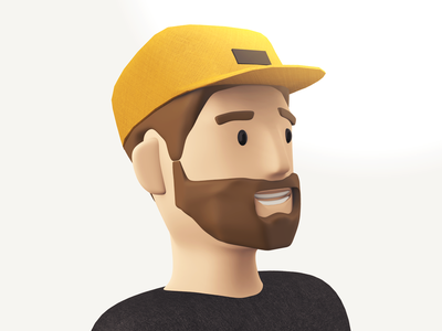 Ma face vectary lowpoly portrait character 3d