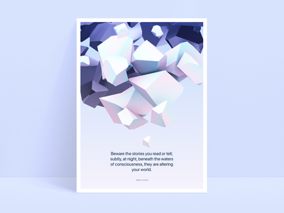 Another one abstract illustration 3d art poster vectary octane surreal 3d