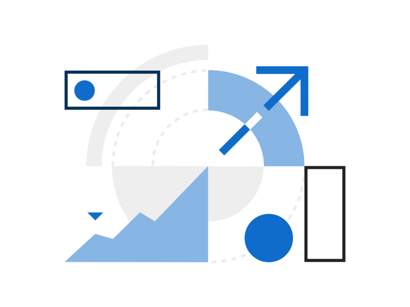 To a better financial health graph shapes geometric growth dataviz dashboard onboarding layout fintech money shape finance illustration