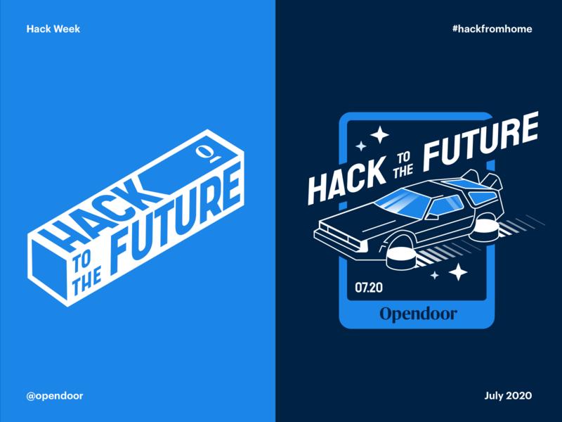 Hackweek visual concepts brand opendoor future delorean concept hackathon hackweek hack time