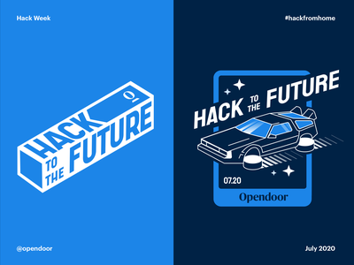 Hackweek visual concepts brand opendoor future delorean concept hackathon hackweek hack time