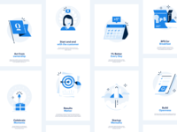 Core values icon set branding identity brand flat opendoor startup illustration icons cultural