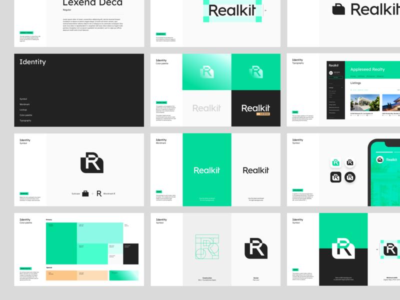 Realkit guidelines realestate styleguide branding brand whitespace logotype logo identity