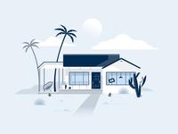 Summer 2020 brand realestate illustration home house