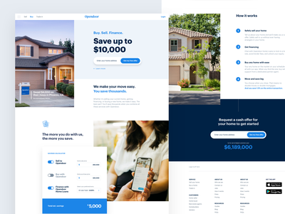 Savings page conversion cta bundle house home brand ui webdesign website web landing page real estate
