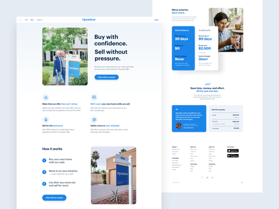 Page layout design real estate rounded corners landing web brand layout