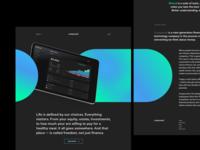 Layout exploration web design shapes splashpage gradient hero product landingpage web layout