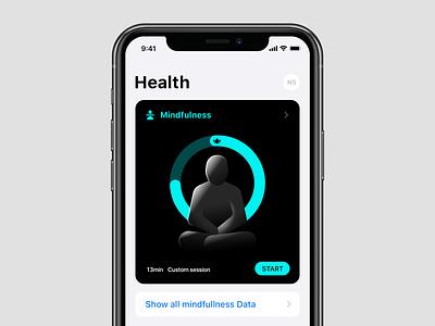 Mindfulness module mindfulness illustration timer zen meditation product design health apple
