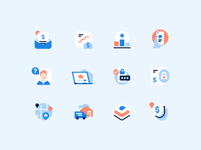 Opendoor icon set brand iconset product tech move house real estate icon