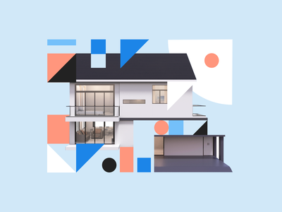 We are hiring! sayhi recruiting data home house real estate abstract shapes branding illustration design hiring