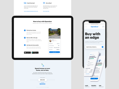 Buyer page layout responsive hero landing page home house ui app real estate product web web design layout