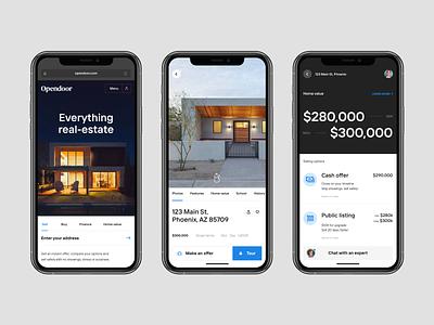 Font and layout test house design ui brand real estate product design app design app concept