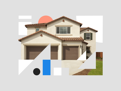 Abstract illustration for recruiting posts collage geometic home house real estate illustration brand shapes abstract