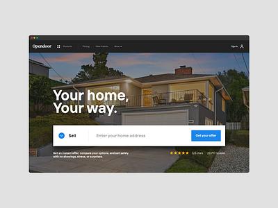 Giant CTA concept ui input real estate conversion entry marketing hero cta button form