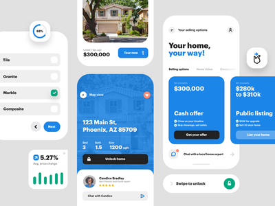 UI bits radius button components app real estate patterns product
