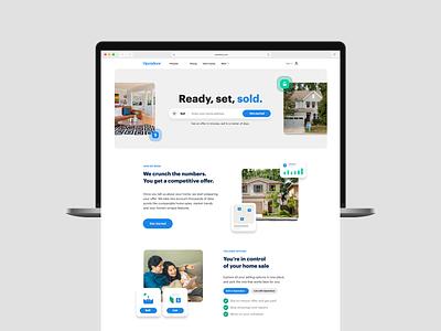 Homepage layout real estate layout hero cta homepage radius web design landing page