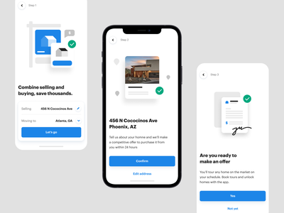 Onboarding spots spot illustration real estate brand ui product onboarding screen flow spots illustration