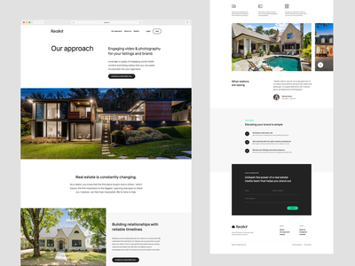 Realkit page layouts real estate page website web design web layout