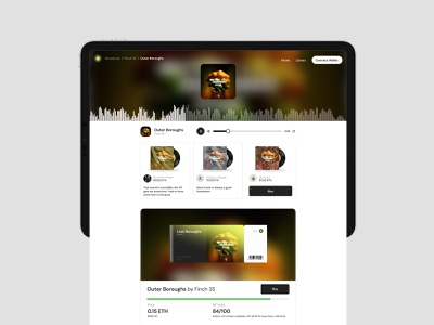 Music crypto UI player music nft crypto web product