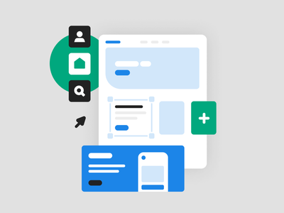 Use templates page web landing page components template system illustration spot