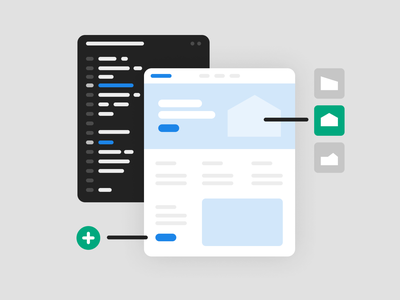 Small, smart changes guidelines web icon landing pages system test illustration spot code