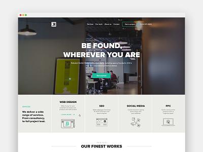 Homepage NPM company agency media hero