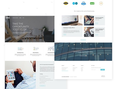 Accounting startupt homepage
