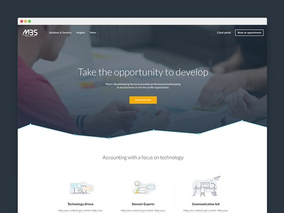 Homepage design accounting lato another again