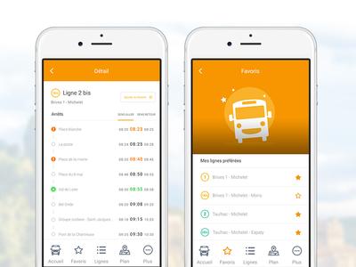 Bus app new screens stop transportation mybus