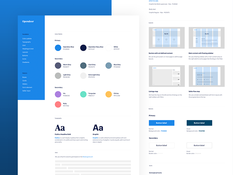Web Guidelines style guide brand ui