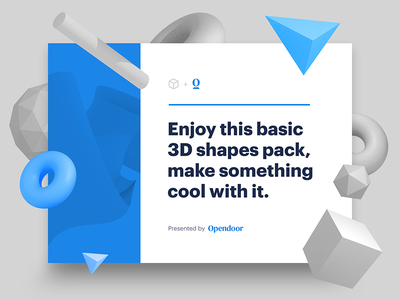 3D shapes pack triangle cube sphere blender 3d free download freebie package