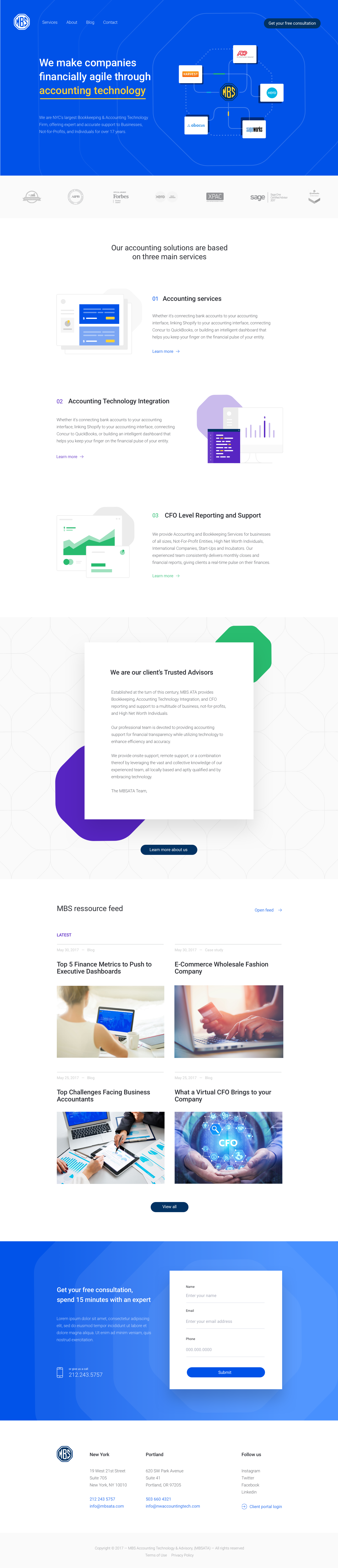 Homepage redesign mockup
