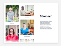 Stories page concept