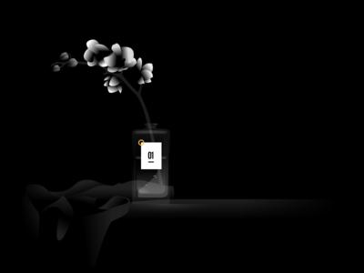 Sketch practice mood night flower practice home vector illustration