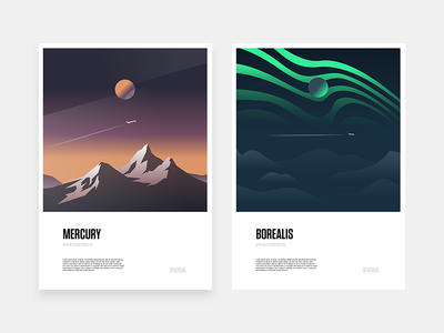 Minimal space posters spaceship planet minimal colors illustration scifi poster