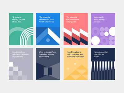 Guide covers geometric abstract editorial hub guides content