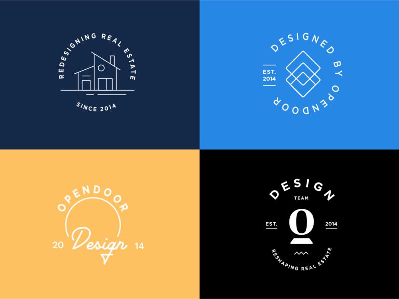Team badge brand team design logo opendoor