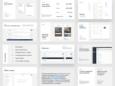 Slide(s) deck presentation ui web estate opendoor design