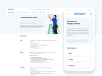 Repairs page