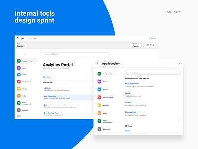 Design sprint – Day 2 landing brand simple software enterprise internal tools product design opendoor layout ui