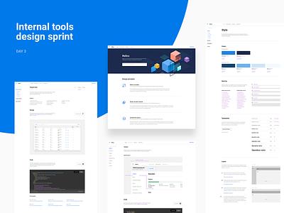 Design sprint – Day 3 bootstrap tech software internal tools brand platform system layout process design