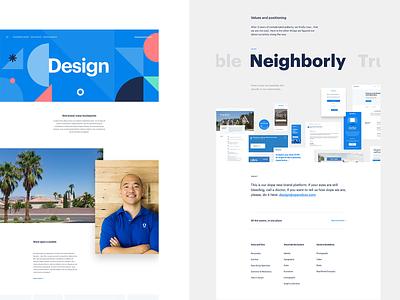 Visual explorations blue product web opendoor ui layout design